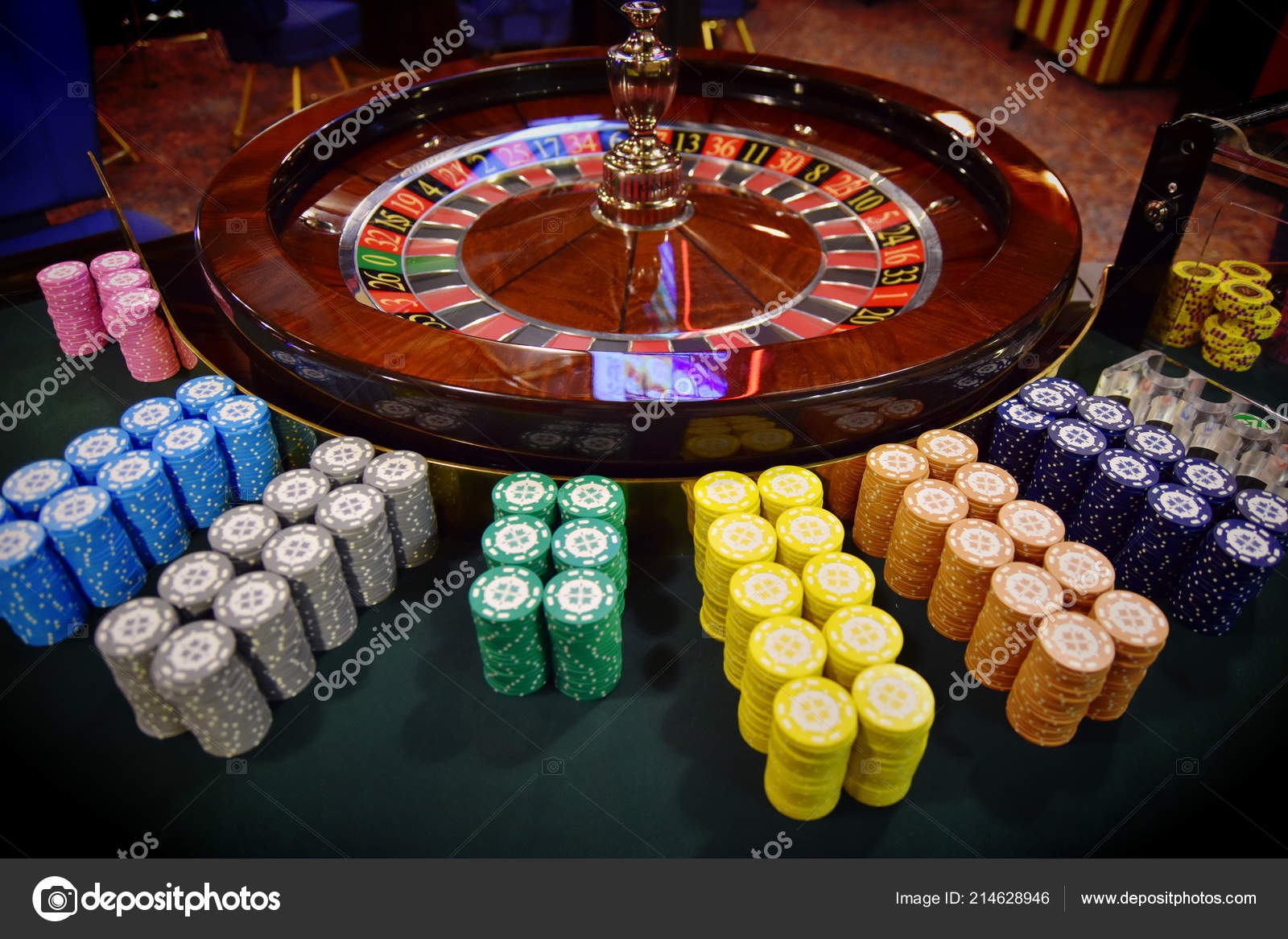 betting chips in roulette