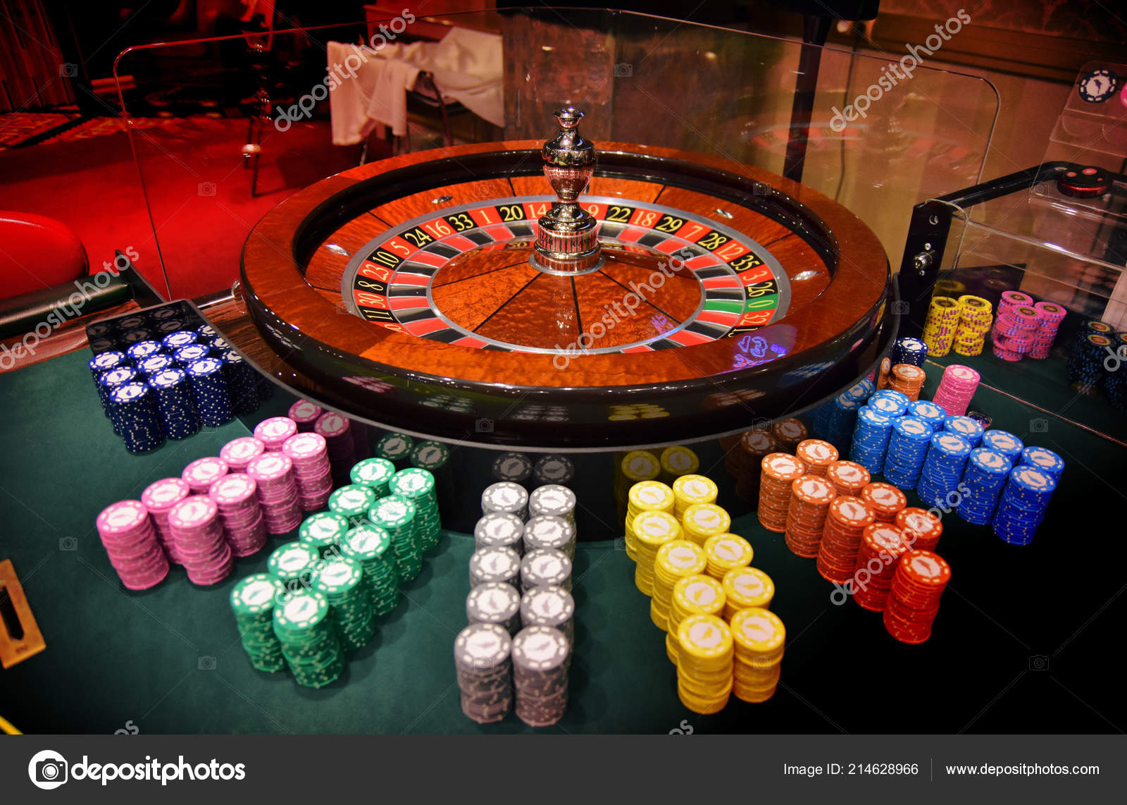 Play Roulette Chips Casino Stock Photo Image By C Lu77 214628966