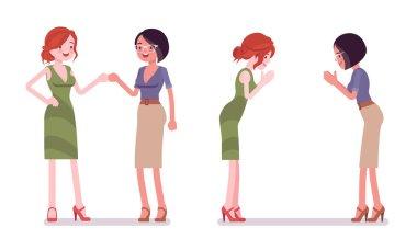Female partners greeting
