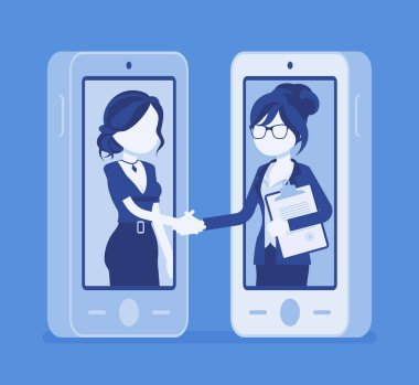 Mobile female deal, commercial business agreement