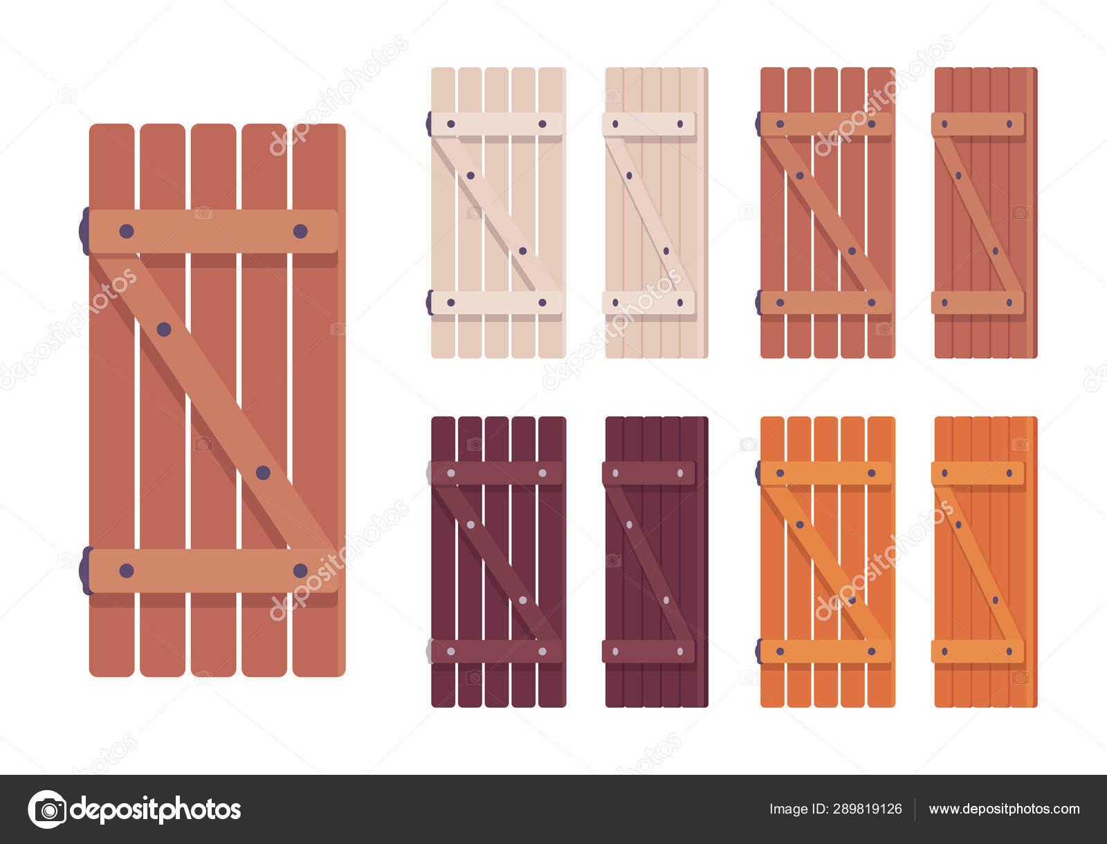 Wooden Shutter Set Stock Vector C Andrew Rybalko 289819126