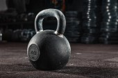 Photo Kettlebell training in gym