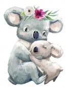 Baby und Mama Koala