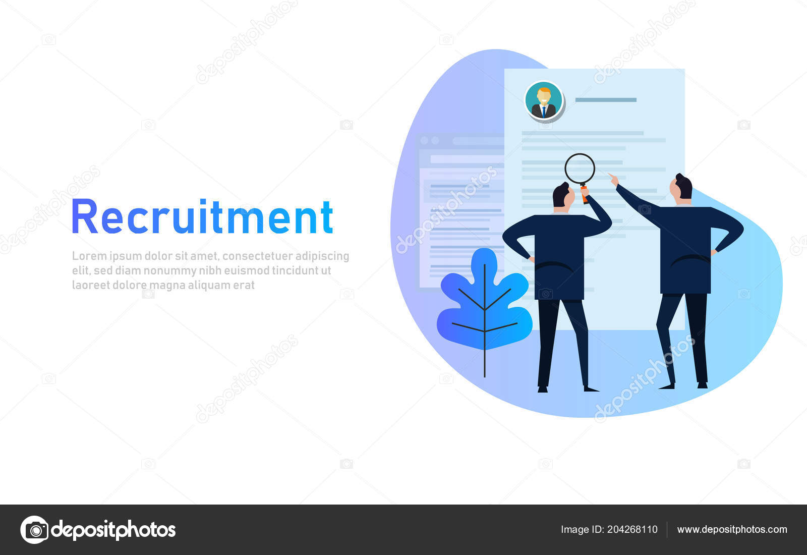 Recruitment process  selecting candidate by human resource  Business