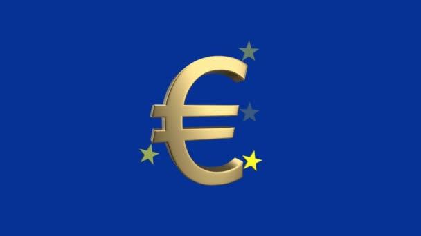 Abstraktní pojem ekonomiky Eu. Symbol měny euro s hvězdami. 3D vykreslování.