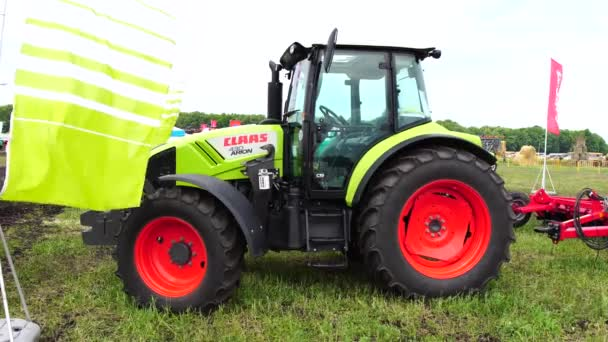 Goryainovka, Mordovia, Russia - June 28, 2019: A CLAAS Arion 430 tractor at the public event Russian Plowing Championship.