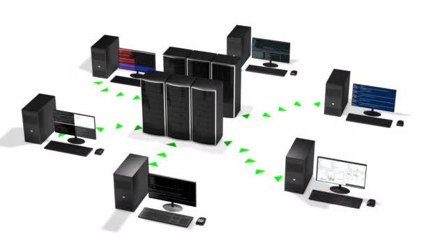 Konzept des Cloud-Rechenzentrum-Hosting-Schema, Schleife