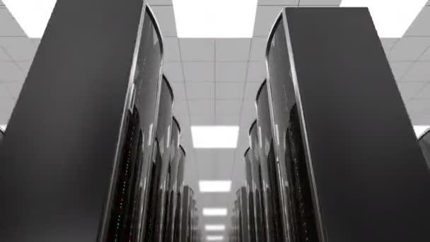 Wechsel zwischen Server-Racks im Rechenzentrum, Schleife