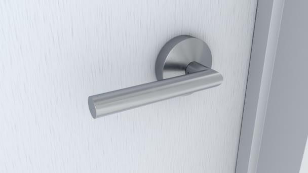 Pokoje dveře otevření a zelené obrazovky pozadí chroma klíč za