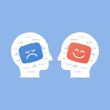 Service quality, opinion poll, positive thinking, negative emotion, bad experience, good feedback, happy client, unhappy customer