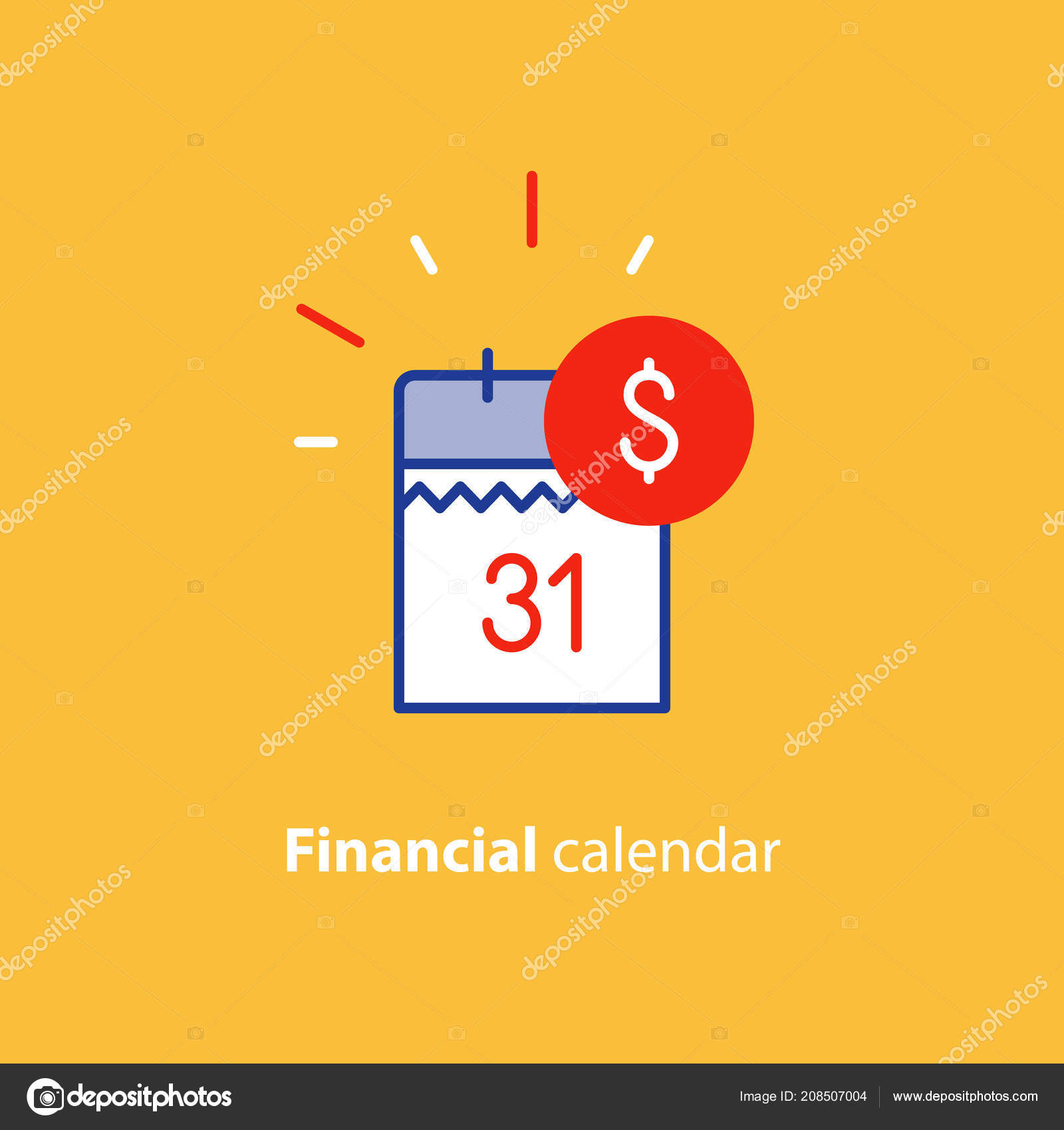 Payment Day Finance Calendar Icon Income Dividend Long Term
