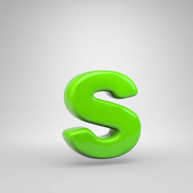 UFO green color letter S lowercase