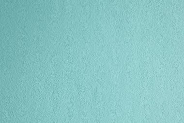 Surface of the pastel cyan cement wall background. Cement seamless background and texture