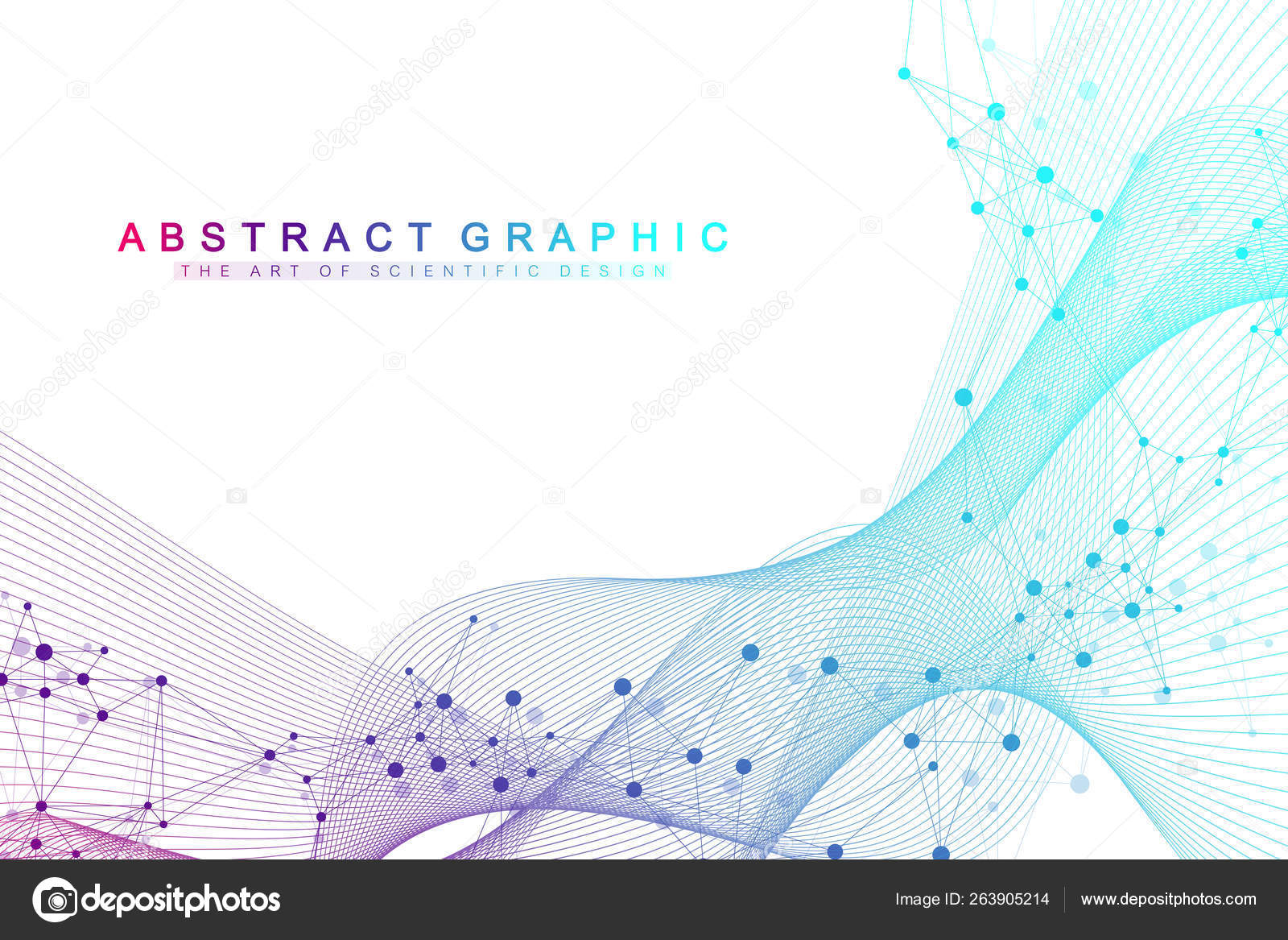 Analytical Learning technology abstract background with connected line and dots