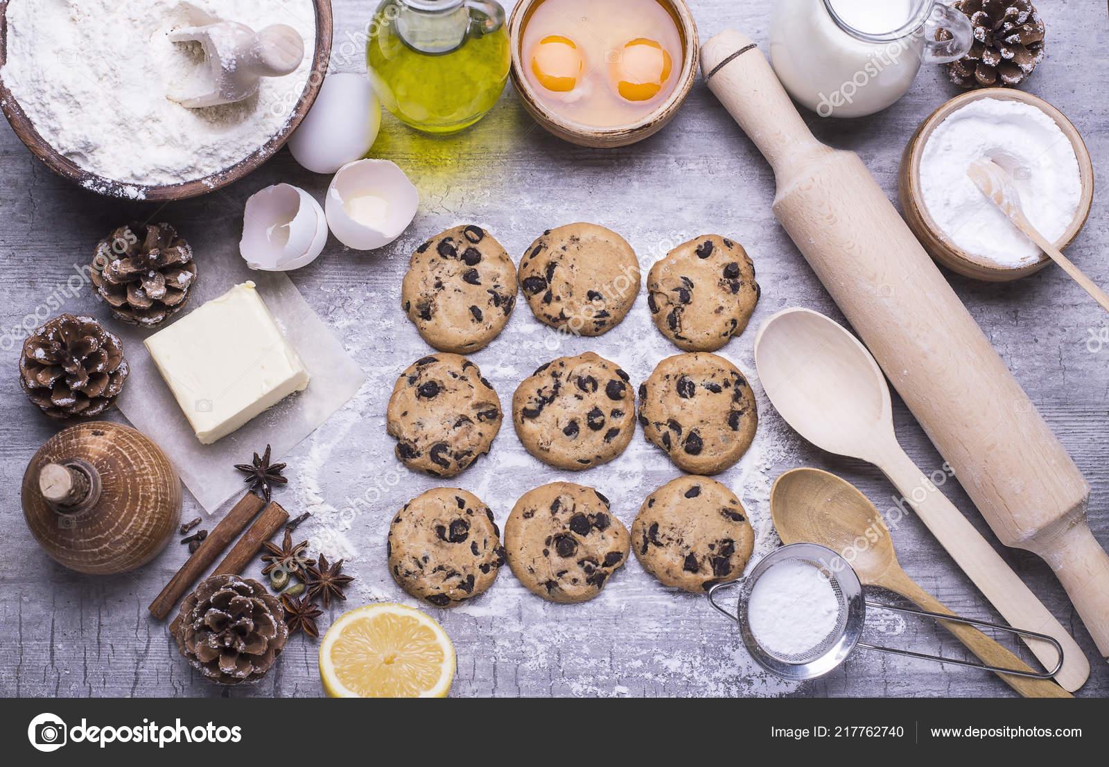 Natural Organic Ingredients Baking Homemade Christmas Biscuits