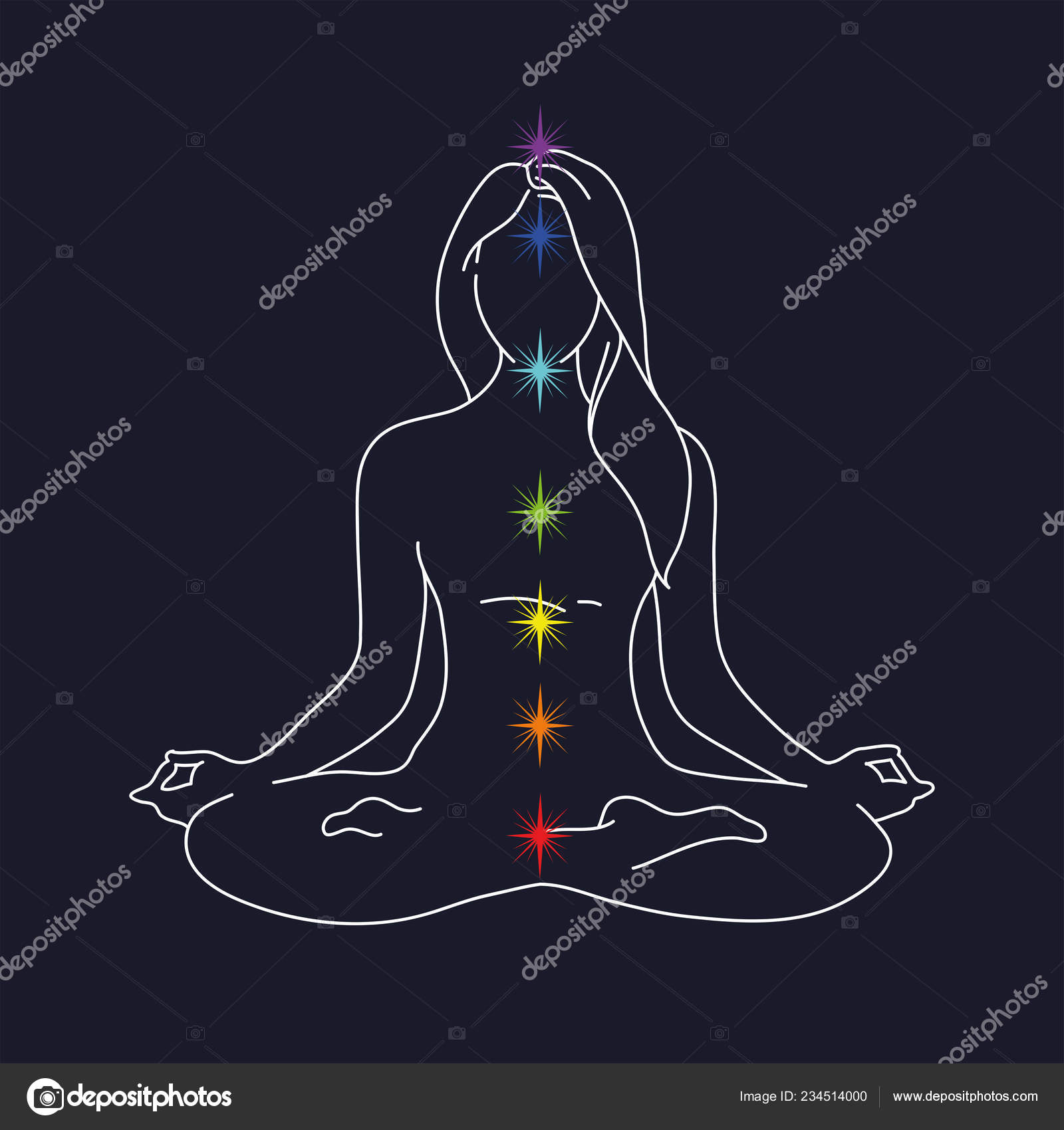 Woman Yoga Pose Lotus Position Silhouette Vector Illustration Blue Background Stock Vector C Margaritash 234514000