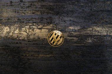 Altın Litecoin yalan arka plan