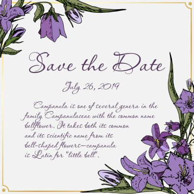 Vector card with flowers save the date