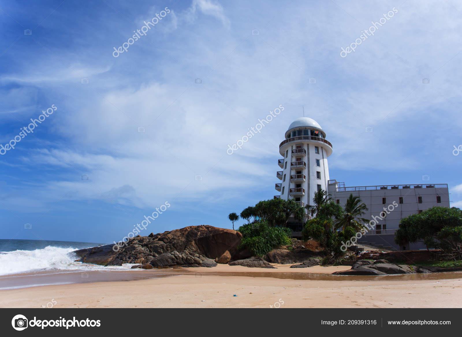 Sri Lanka Ambalangoda 3 Juni 2016 Den Leuchtturm Blick