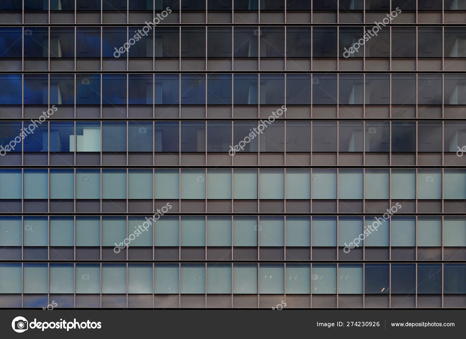 Colorful Blue Modern Curtain Wall Glass Aluminum Metal Cladding Office Stock Photo Image By C Suebsiri 274230926