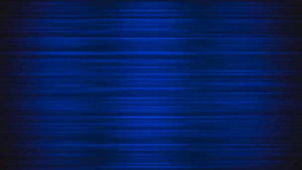 Světlé modré pohybu linie na černém pozadí, abstraktní, opakování animace