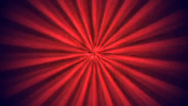 Bright red motion lines on black background, abstract looping animation