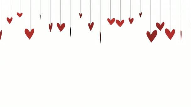 Animaci romantické srdce, elegantní dynamický styl šablony pro valentinky den