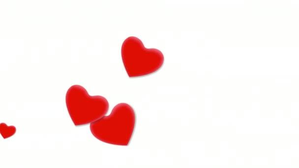 Animáció romantikus szívek, elegáns dinamikus Stílussablon Valentin-nap