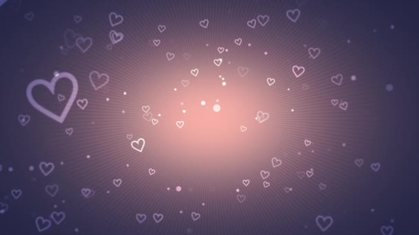 animation of romantic small white hearts on  rose gold background, elegant dynamic style template for Valentines day