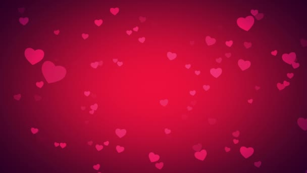 Animation romantic hearts, elegant dynamic style template for Valentines day