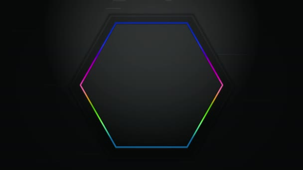 Motion hexagon abstract background, dynamic geometric style template