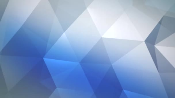 Motion blue and white triangles abstract background, dynamic geometric style template