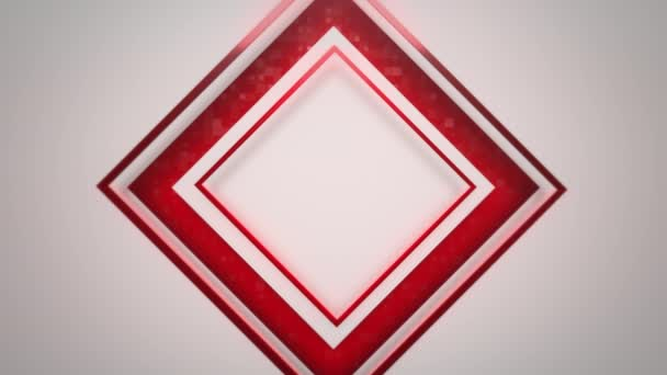 Motion red squares abstract background. Elegant and luxury dynamic geometric style template