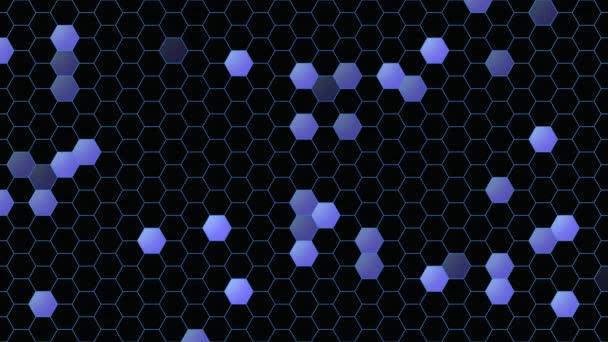 Bewegung lila Sechseck abstrakten Hintergrund, dynamische geometrische Stilvorlage
