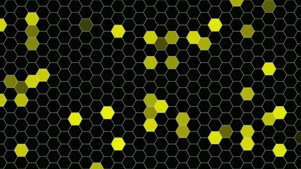 Bewegung gelben Sechseck abstrakten Hintergrund, dynamische geometrische Stilvorlage