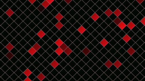 Motion red squares abstract background. Elegant dynamic geometric style template
