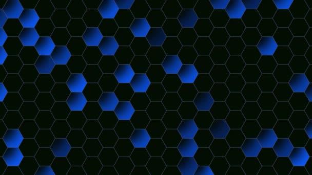Bewegung blauen Sechseck abstrakten Hintergrund, dynamische geometrische Stil Vorlage