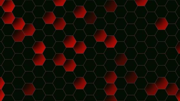 Bewegung rote Sechseck abstrakten Hintergrund, dynamische geometrische Stilvorlage