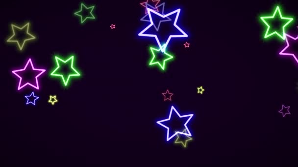 luxury dynamic motion retro colorful stars abstract background
