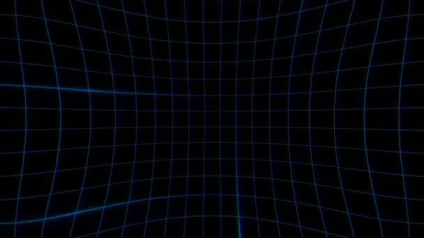 dynamický geometrický retro modré čáry abstraktní pozadí