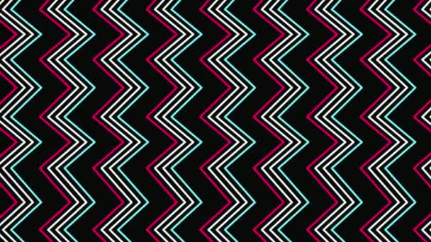 Pohybu retro zig zag abstraktní geometrické pozadí