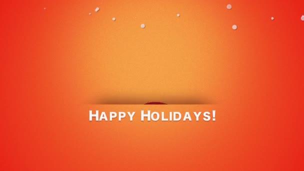 Animovaný zavřít text Veselé Vánoce, Santa Claus s rolničkami. Luxusní a elegantní dynamický styl šablony pro zimní dovolenou