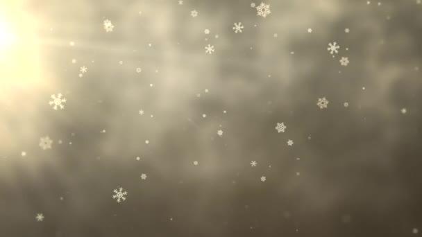Bílá vločka klesá. Šťastný nový rok a veselé Vánoce lesklé pozadí. Luxusní a elegantní dynamický styl šablony pro zimní dovolenou