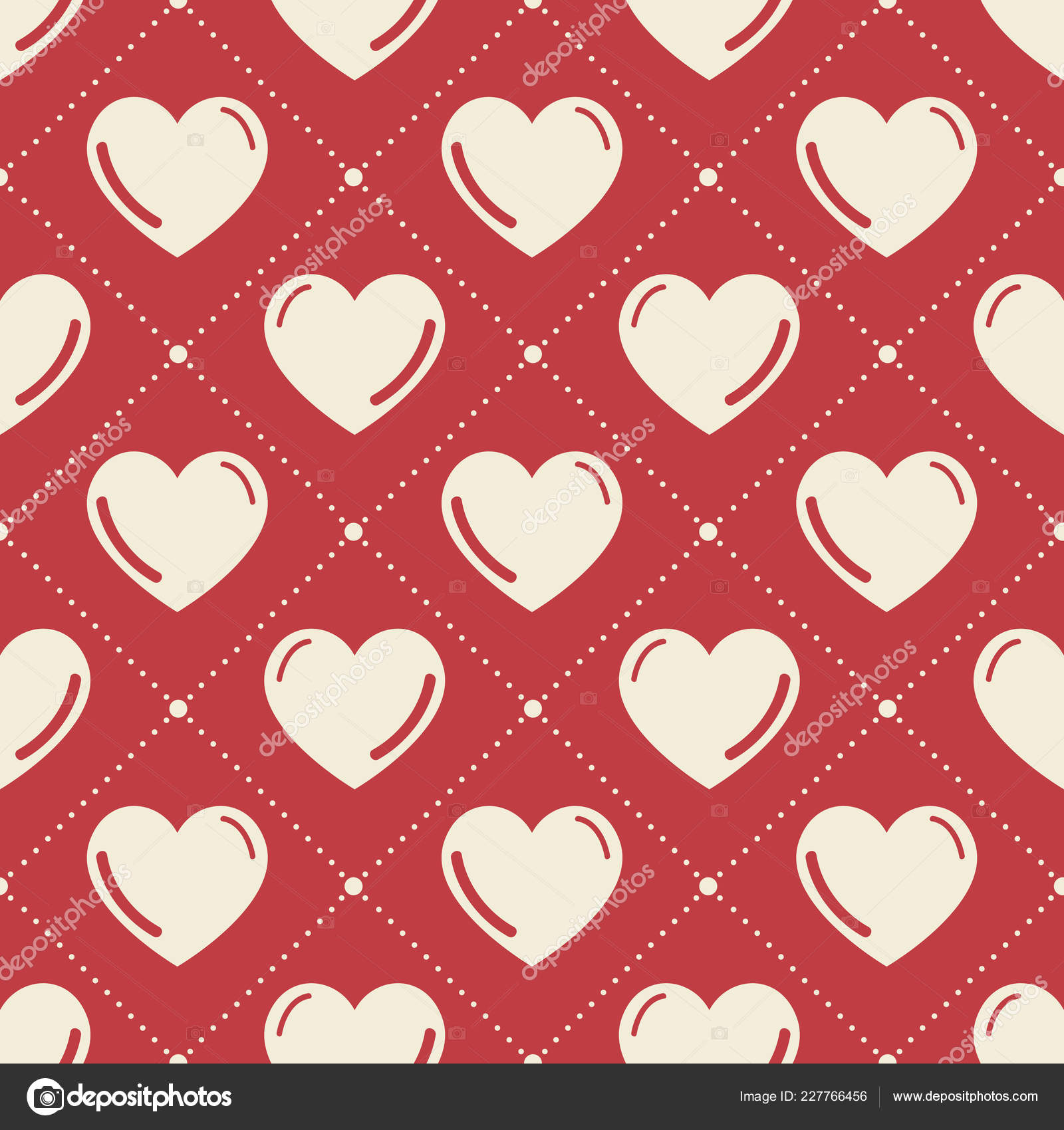 Colorful Hearts Pattern Valentines Day Background Holiday Template
