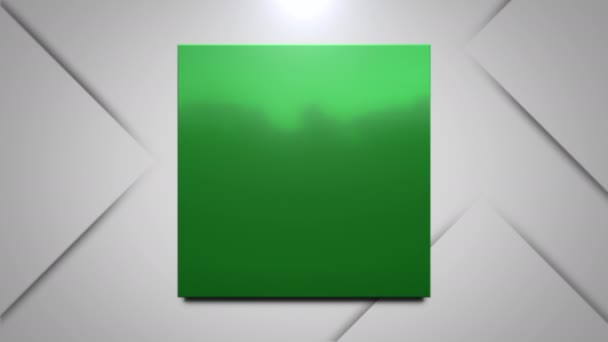 Motion green square abstract background