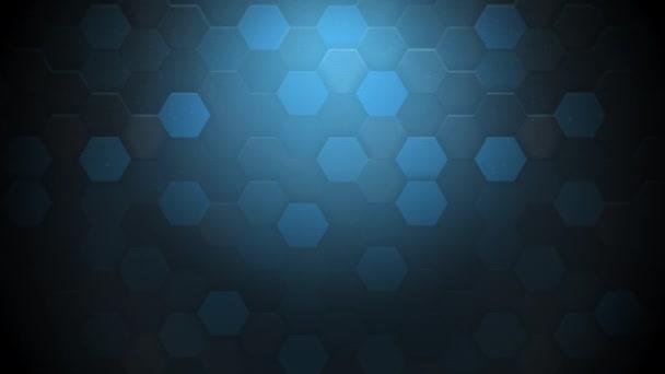 Motion dark blue hexagon abstract background