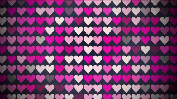 Motion colorful hearts pattern, abstract background