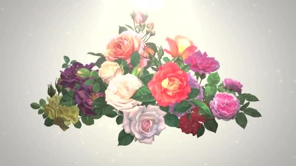 Closeup květiny, svatební zázemí