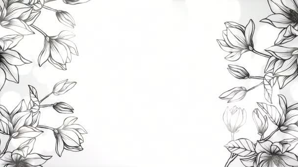 Closeup flowers, motion wedding background