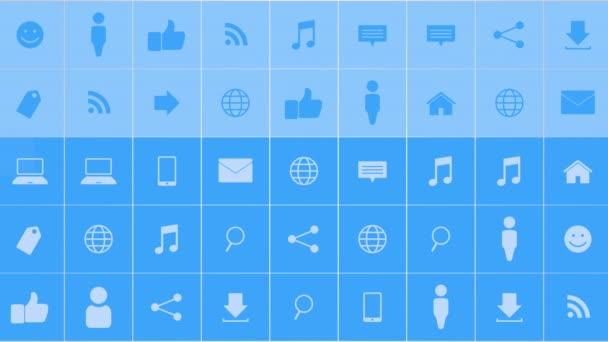 Motion hálózati ikonok egyszerű háttér